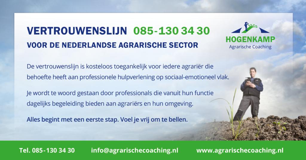 Vertrouwenslijn voor alle Nederlandse agrariërs - Hogenkamp Agrarische Coaching