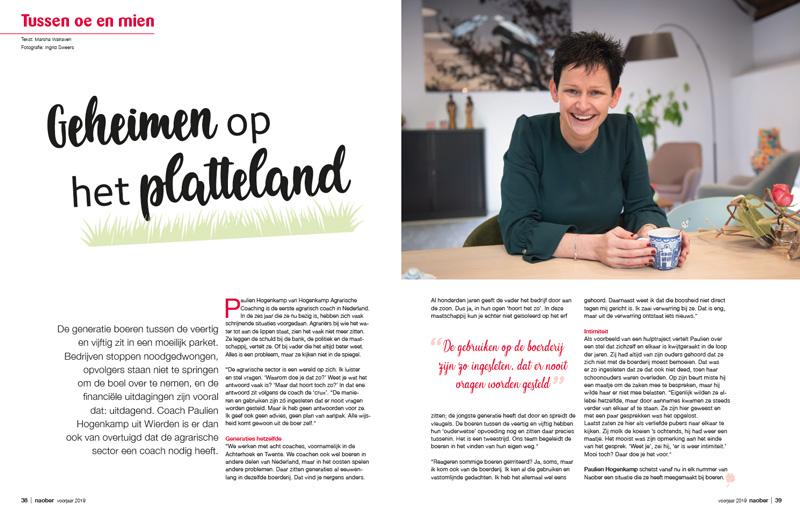 Noaber Magazine - Tussen oe en mien - Interview agrarisch coach Paulien Hogenkamp over geheimen op het platteland
