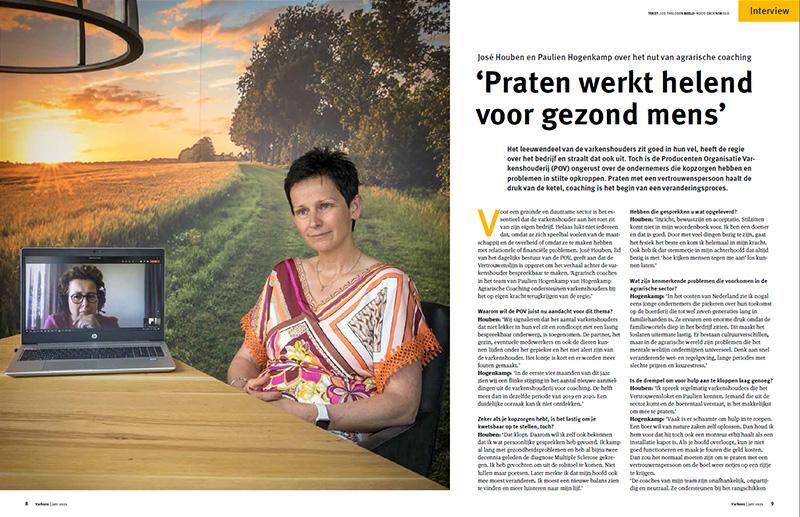 Agricoach Paulien Hogenkamp over het nu van agrarische coaching: praten werkt helend voor gezond mens