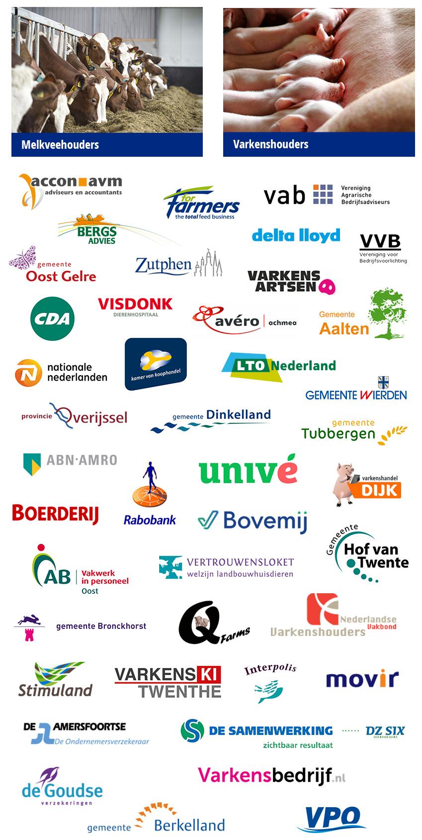 Opdrachtgevers van Hogenkamp Agrarische Coaching uit Overijssel