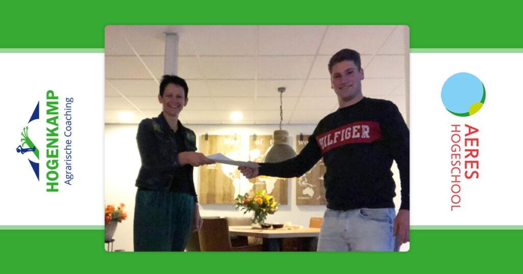 Hogenkamp Agrarische Coaching sponsor studentenvereniging USRA bij Aeres Hogeschool Dronten